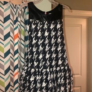 Girls Houndstooth Lace Dress